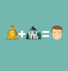 purchase buy a house vector image