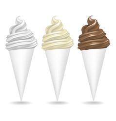 realistic detailed ice cream set vector image