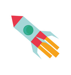 Rocket spaceship symbol vector
