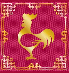 roosterchinesenewyear vector image