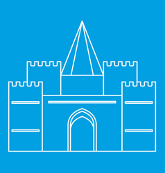 Royal castle icon outline style vector