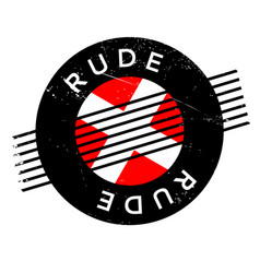 Rude rubber stamp vector