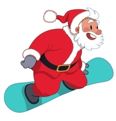 Santa claus on the snowboard vector
