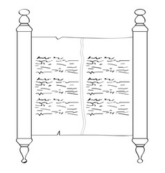 traditional torah outline vector image