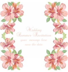 Vintage Spring Summer delicate Flowers card vector image vector image