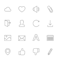 Web interface outline icons vol 2 vector image vector image