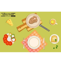 Tasty and healthy food for each day vector