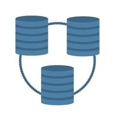 Data center information digital vector