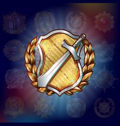 Cartoon military award template vector