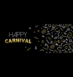 Welcome to carnival gold party banner design vector