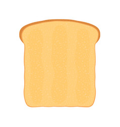 fresh bread toast for breakfast flat style vector image