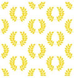 Leaf wreath pattern vector