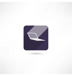 Computer notebook icon vector