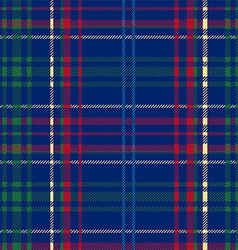 Blue tartan plaid seamless design vector