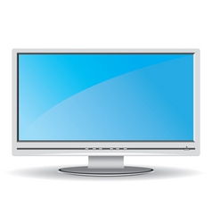 Gray lcd monitor vector