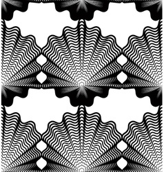 Ornate monochrome abstract background with black vector