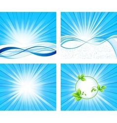 background design set vector image