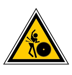 Danger machine sign vector