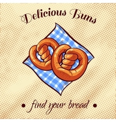 Bread on a napkin 15 vector