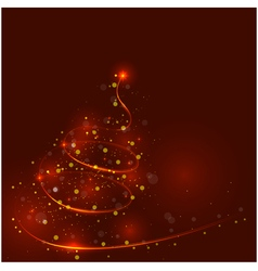 Shining christmas tree the magic christmas tree vector
