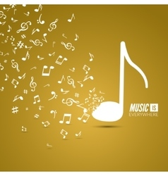 abstract musical background with musical vector image vector image