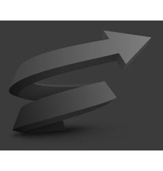 Abstract with black arrow vector