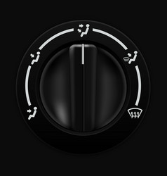 air flow selector car dashboard black switch vector image