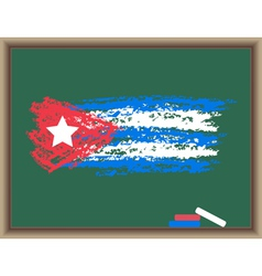 chalk flag of cuba vector image vector image