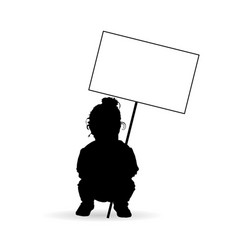 Child silhouette with transparent in black vector