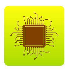 Cpu microprocessor brown vector