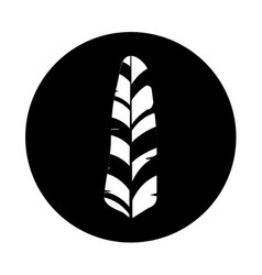 Cute feather decorative icon vector