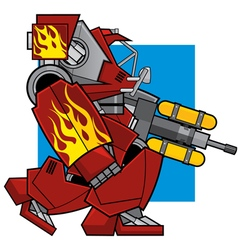 Flame thrower machine vector
