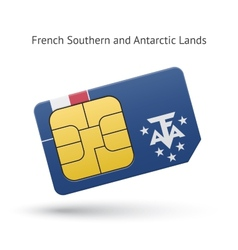 French southern and antarctic lands phone sim card vector