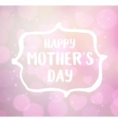 Happy Motherss Day typographical vector image vector image