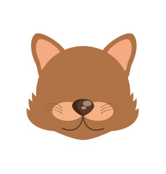 head cute wolf animal image vector image vector image