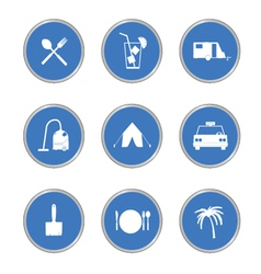 icon in blue circle vector image