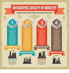 Infographic Concept with Symbols of Factories vector image