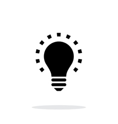 Less light icon on white background vector image