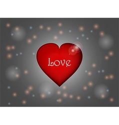 Love heart over glowing background vector image vector image
