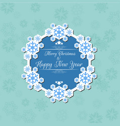 Merry christmas and happy new year background bann vector