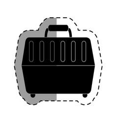 Pet carrier box icon vector