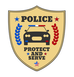 police sign police logo and banner vector image vector image