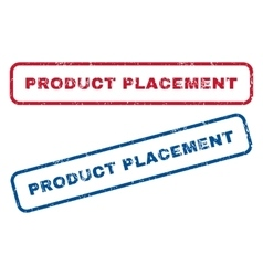 Product Placement Rubber Stamps vector image