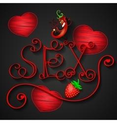 Sex shop logo vector image vector image