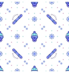 Snowboard pattern winter sport seamless design vector