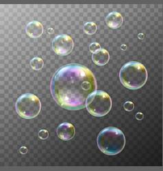 Soap Bubbles Set vector image