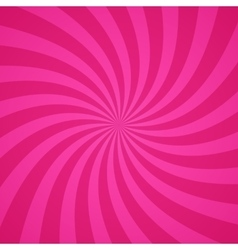 Swirling radial pink pattern background vector image