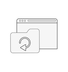 tab webpage or website with file folder icon image vector image vector image