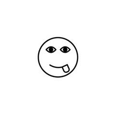 tongue emotion icon vector image