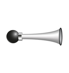 vintage air horn in silver design vector image vector image